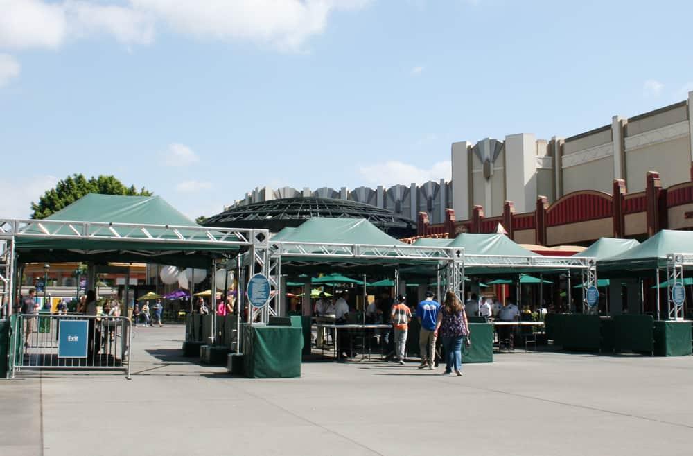 Disneyland security line at Downtown Disney District