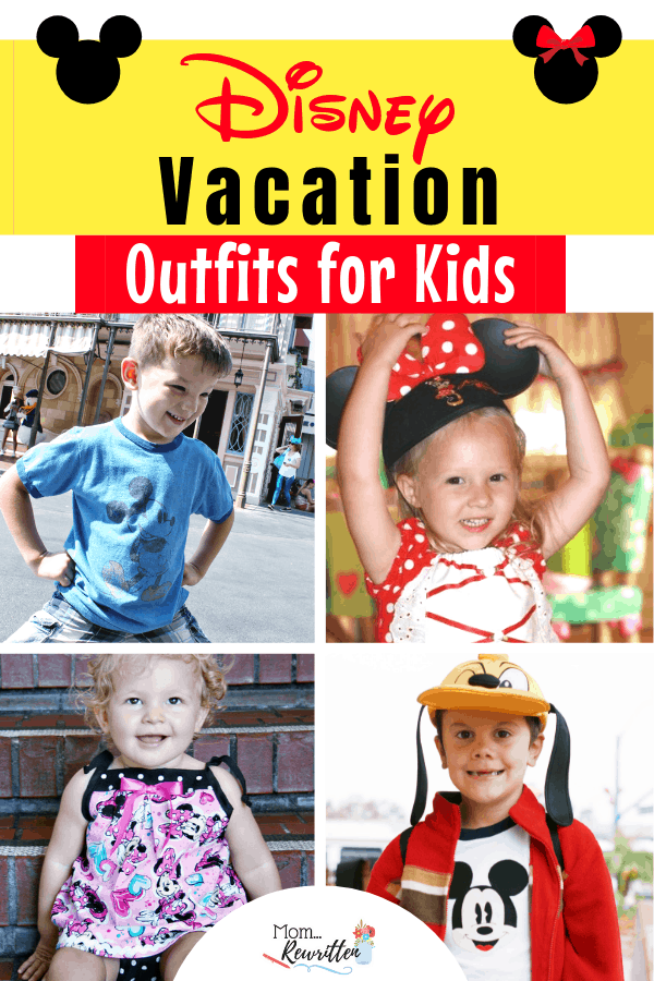 What should kids wear at Disney parks? These Disney vacation outfits for kids will have them cute, cool and comfortable in the parks! Tons of ideas on dressing up for Disney, with tips from head to toe for Disneyland and Disney World vacations including family styles, homemade outfits, accessories, Mouse Ears and costumes. #Disneyland #Disney #DisneyWorld #DisneyOutfits #DisneyBound #DisneyKids | Dressing Up for Disney | Disney Clothes | Disney Travel Tips | Travel with Kids | Family Travel