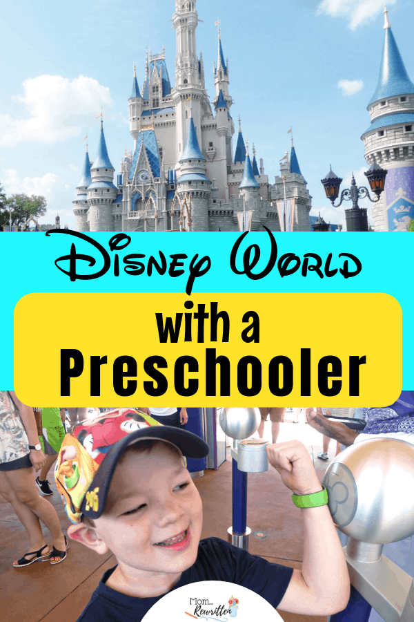 Visiting Walt Disney World with a preschooler? These are the insider tips for taking preschoolers to Disney! Find out where to let preschoolers play in the parks, what to dine on, best rides in the parks and more insider tips for Disney with your preschooler. #Disney #DisneyWorld #PreschoolTravel | Florida | Theme Park Travel | #MomRewritten