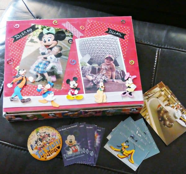 Back-To-School DIY Disney-Style Storage Box is Perfect for Storing School Supplies or Disney mementos!