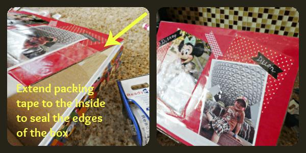 Back-To-School DIY Disney-Style Storage Box is Perfect for Storing School Supplies or Disney mementos!