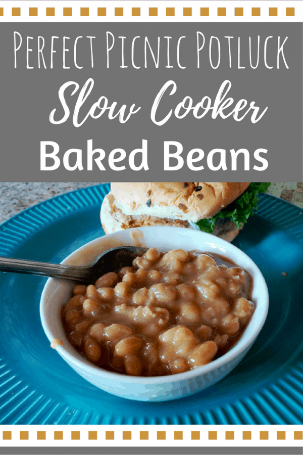 This baked beans recipe is the perfect side dish! It's budget-friendly and crowd-pleasing. Best of all this baked bean recipe goes together in the slow cooker!