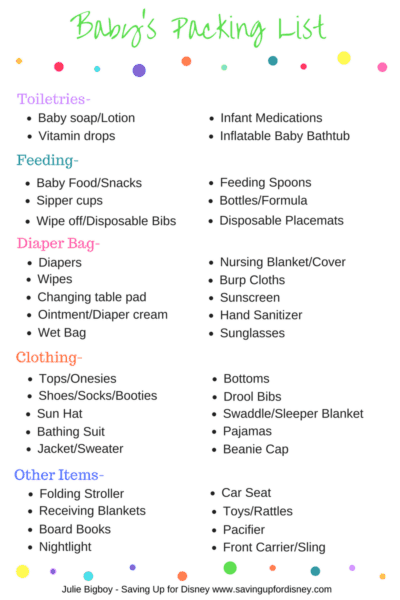 Traveling With a Baby in Diapers – FREE Baby Packing List Printable!