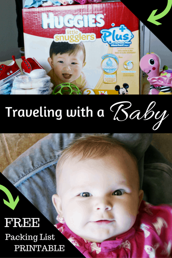 Traveling With a Baby in Diapers? This FREE Baby Packing List Printable will Help You Stay Organized! #ad #SuperAbsorbant