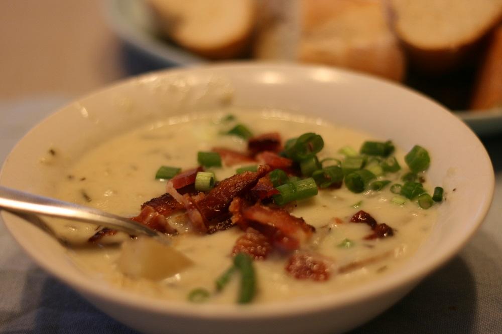 Roasted Garlic and Rosemary Potato Soup Recipe