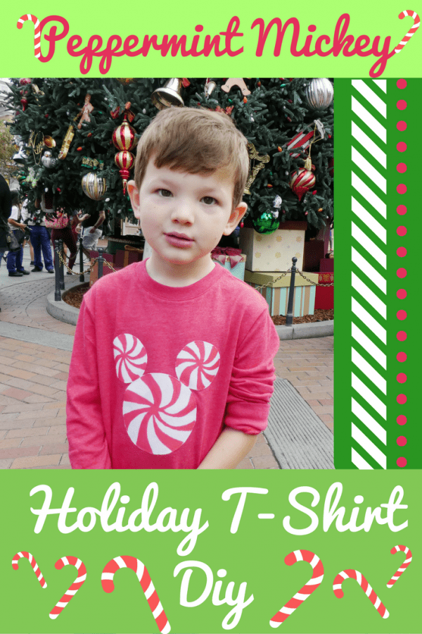 Disney DIY Craft for Kids - Peppermint Mickey Holiday T-shirt