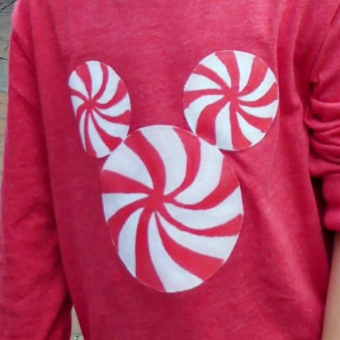 DIY Craft for Kids - Peppermint Mickey Holiday T-shirt