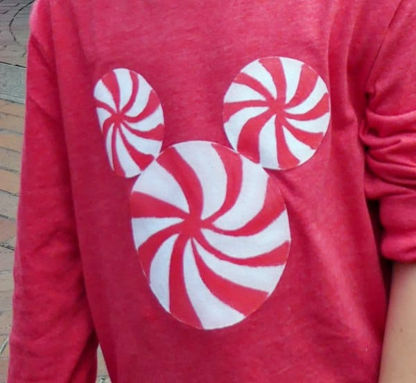 Peppermint Mickey Disney Holiday T-Shirt Disney DIY