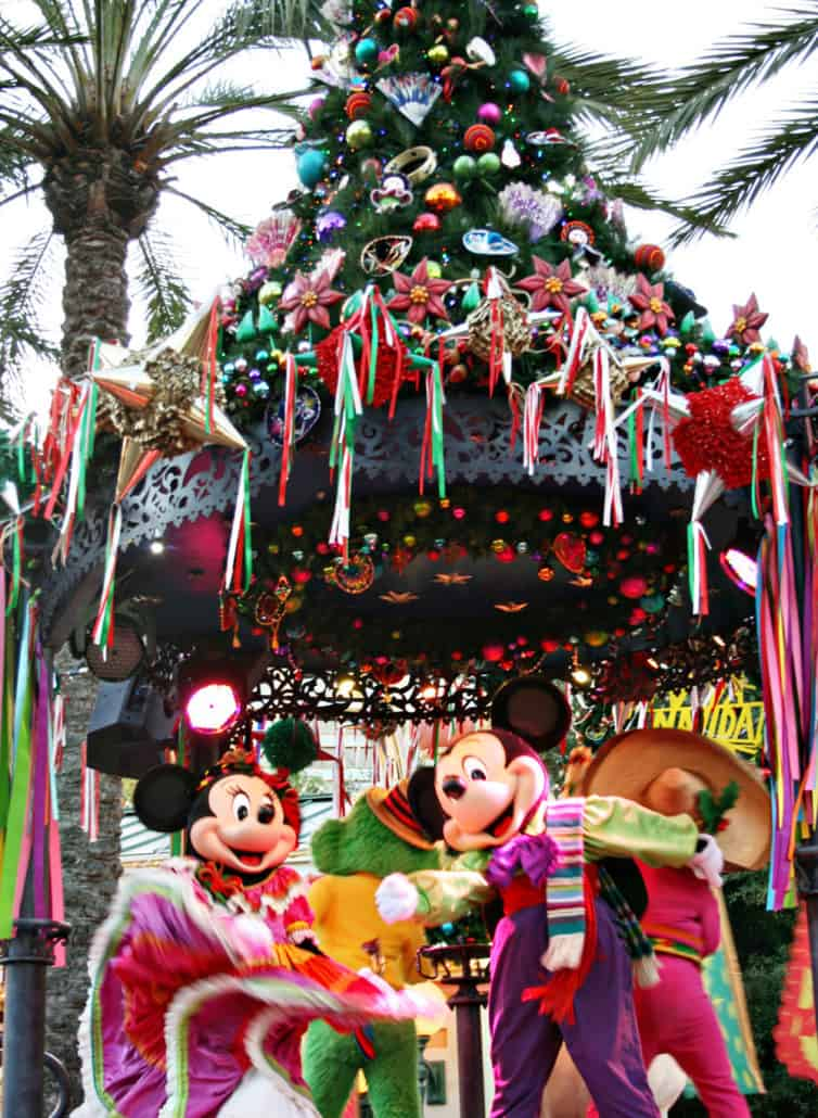 !Viva Navidad! Street Party during Festival of Holidays with Mickey and Minnie