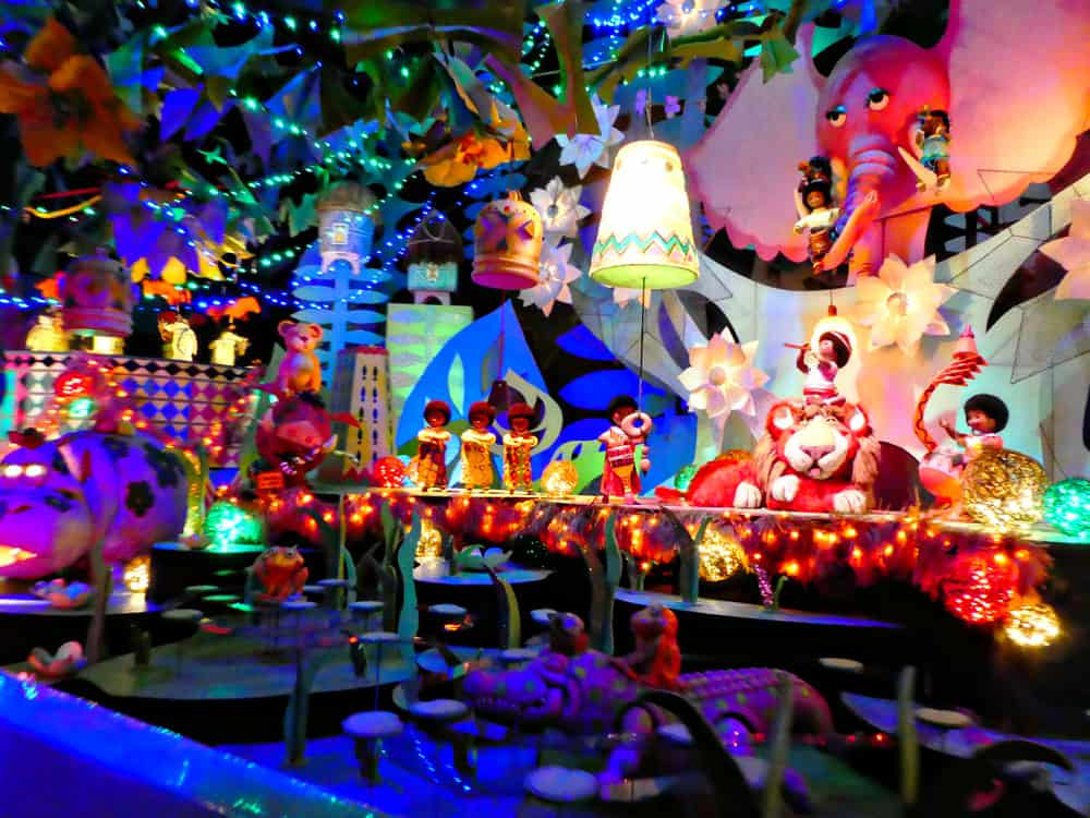 Inside of it's a small world Holiday jungle theme