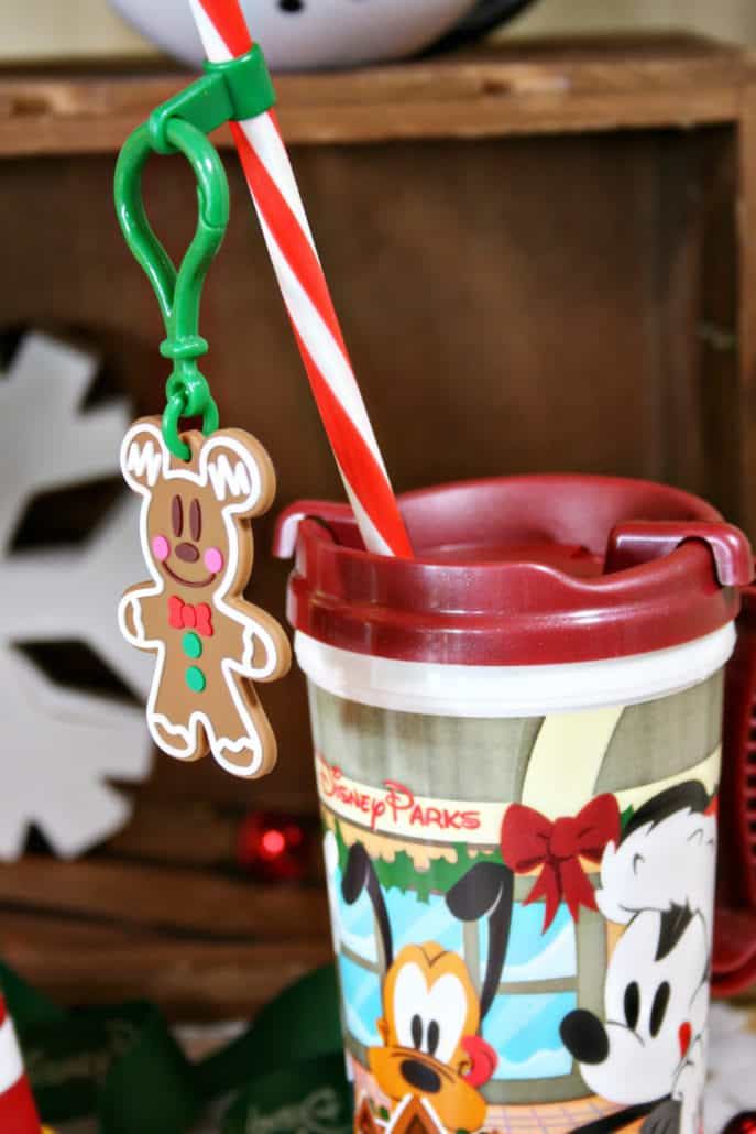 Disneyland Christmas souvenir straw clip and cup
