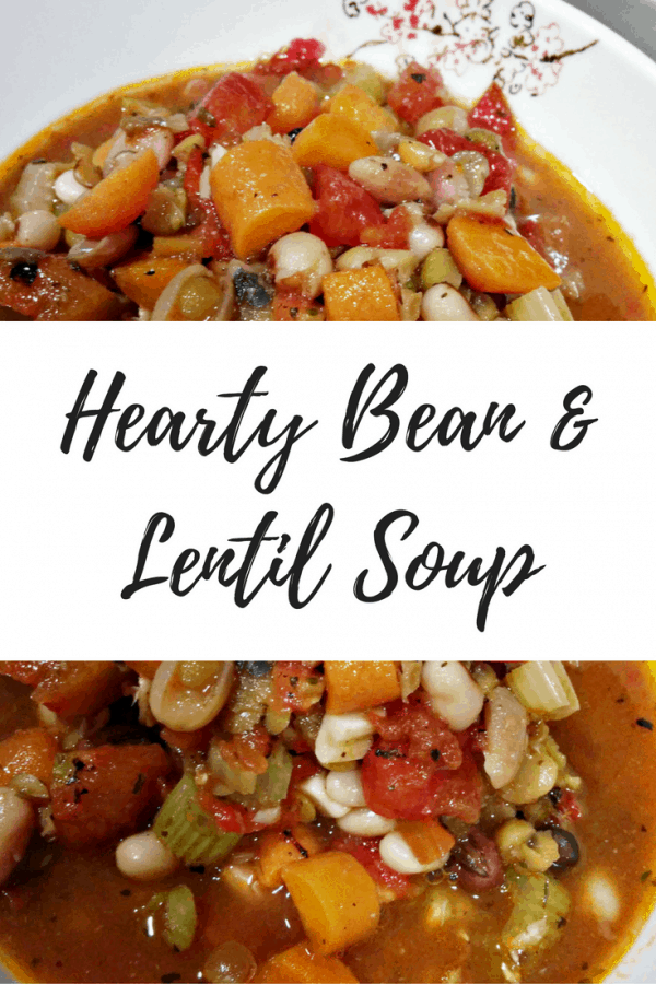 Never Cooked with Lentils?  This Hearty Bean & Lentil Soup is quick & delicious!
