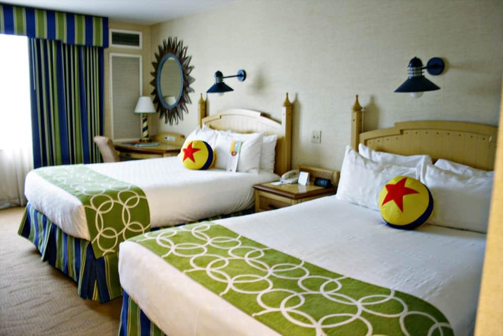 Inside room at Disney Paradise Pier Hotel