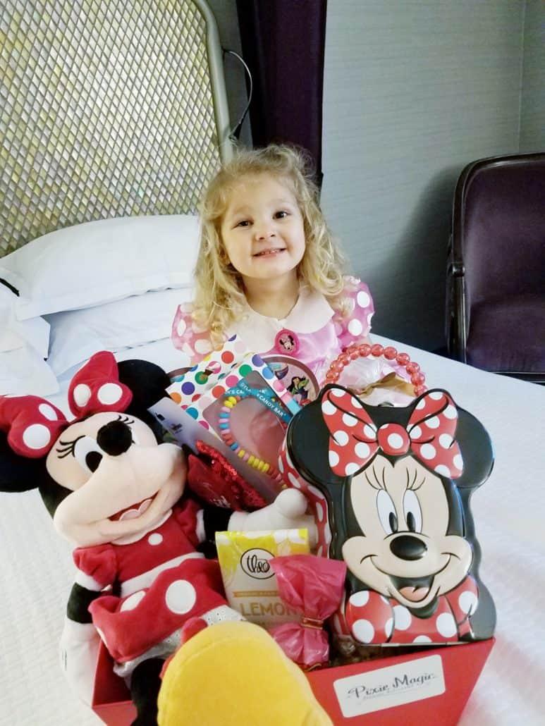 Pixie Magic Minnie Mouse birthday gift basket