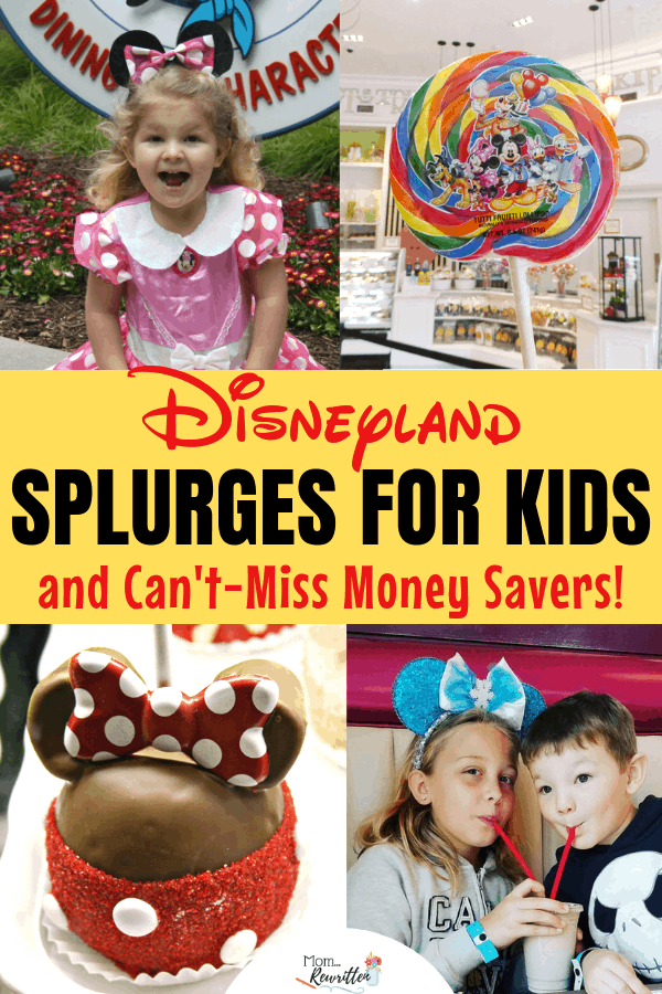Splurging at Disneyland is one of the best parts of a magical vacation! How can you choose with all the special Mickey treats, holiday events and character meals? These are ALL the top splurges at Disneyland for kids including where to eat, what to buy and extra-special things to add on your trip. I've also included lots of money saving ideas that feel like splurges without the big price tag! #Disney #DisneyTravel #DisneyTips | Travel with Kids | Family Travel | Anaheim
