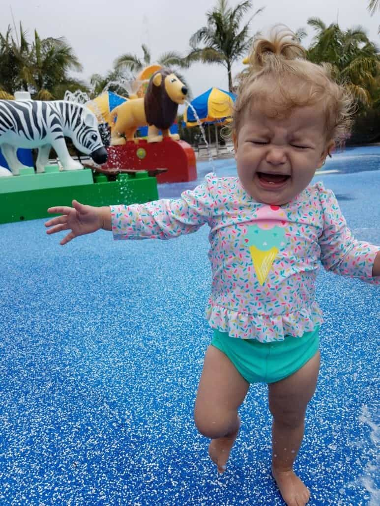 LEGOLAND Water Park toddler area with crying baby