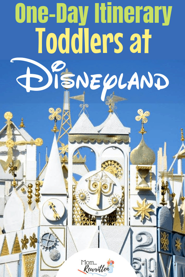 Thinking about taking your toddler to Disneyland? This one-day Disneyland itinerary has all the insider tips for a magical day with details on maximizing one day at Disney with babies and toddlers! Find out the best rides, attractions and shows for little ones, where to eat and what to pack. #Disneyland #ToddlerTravel #Disney Family Travel | California | Travel with Kids | Family Travel | Travel with Babies | Disney Tips | Travel with Toddlers