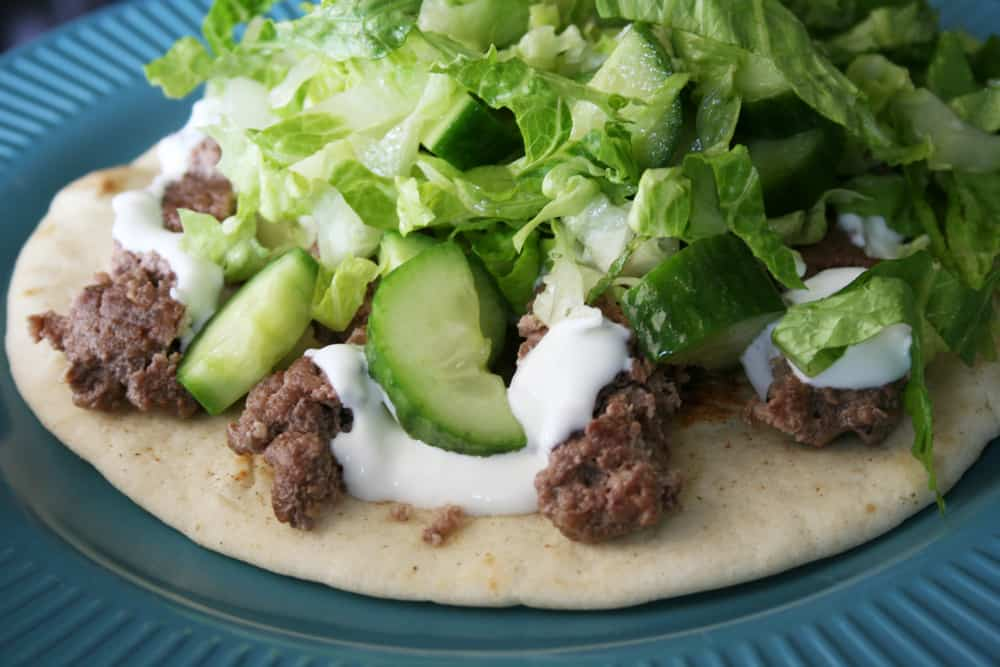 Grass-Fed Beef Gyro Pita from Dinnerly