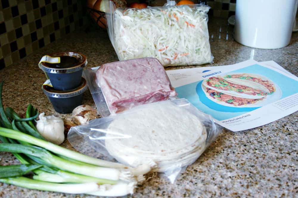 Getting ready to cook a Dinnerly meal