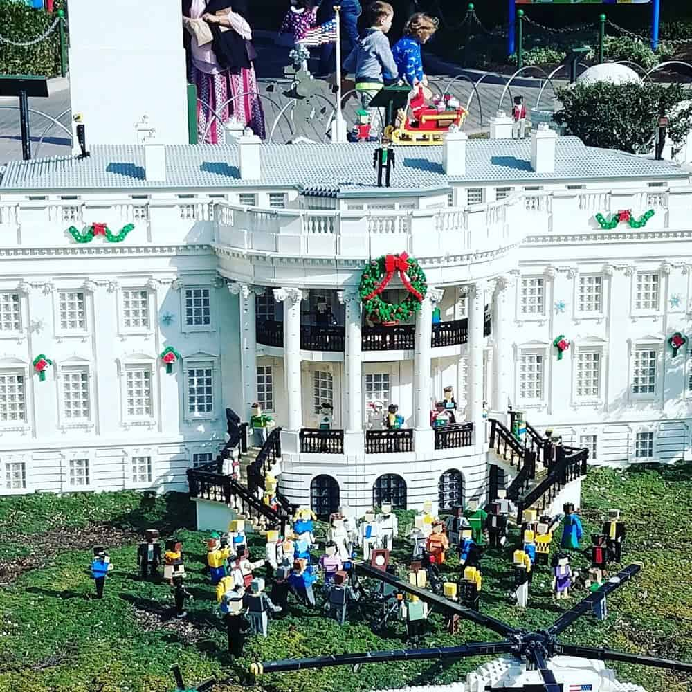 LEGOLAND White House decorated for the holidays