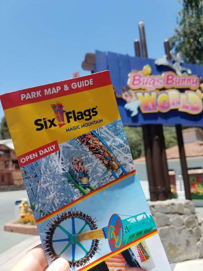 Six Flags Magic Mountain map