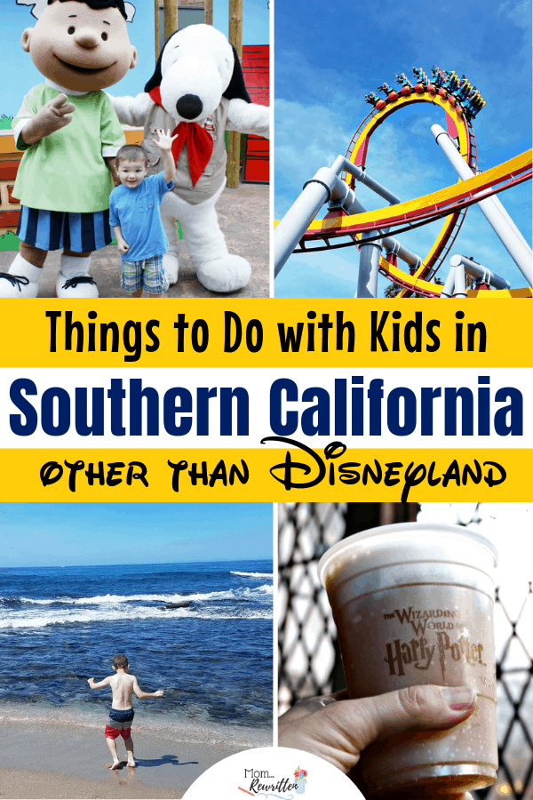 There are SO many fun things for kids to do in SoCal outside of Disneyland! Check out this guide of activities to do in Southern California with kids, including amusements parks, dinner shows, beaches and where to get the best food. #MomRewritten #California #SoCal #AmusementParks