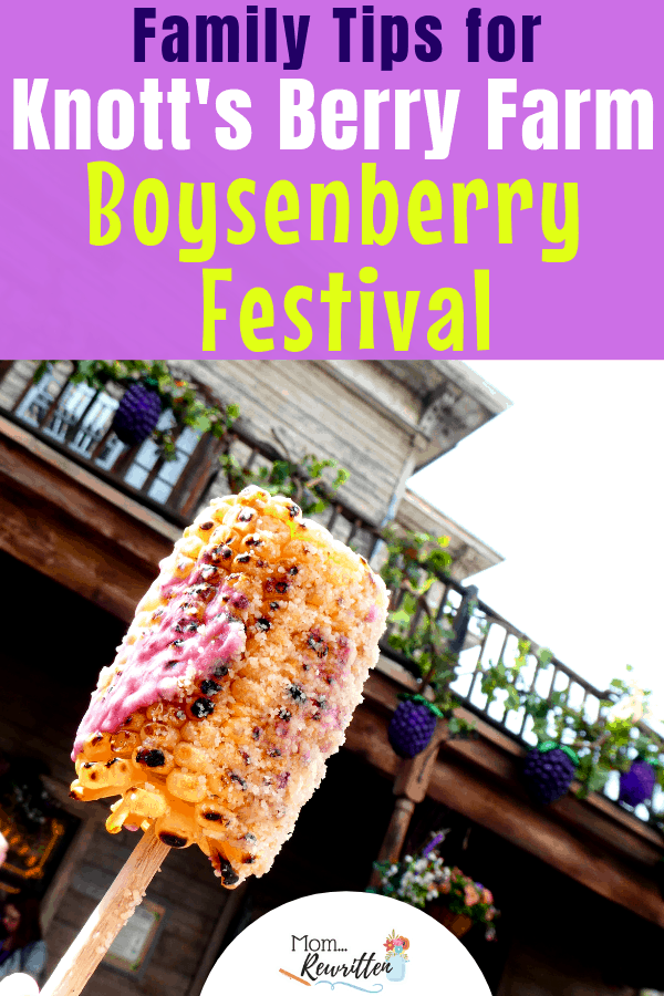 Knott's Berry Farm in Buena Park celebrates at their annual Boysenberry Festival. See what amazing boysenberry-inspired foods there are to taste as well as a guide on what to see and experience during this unique special event! Knott's Boysenberry Festival is can't miss if you're on a springtime California vacation #VisitBuenaPark #KnottsBerryFarm #Knotts | Travel with Kids | Foodie Travel | Food Festival | Family Travel | Tasting Card