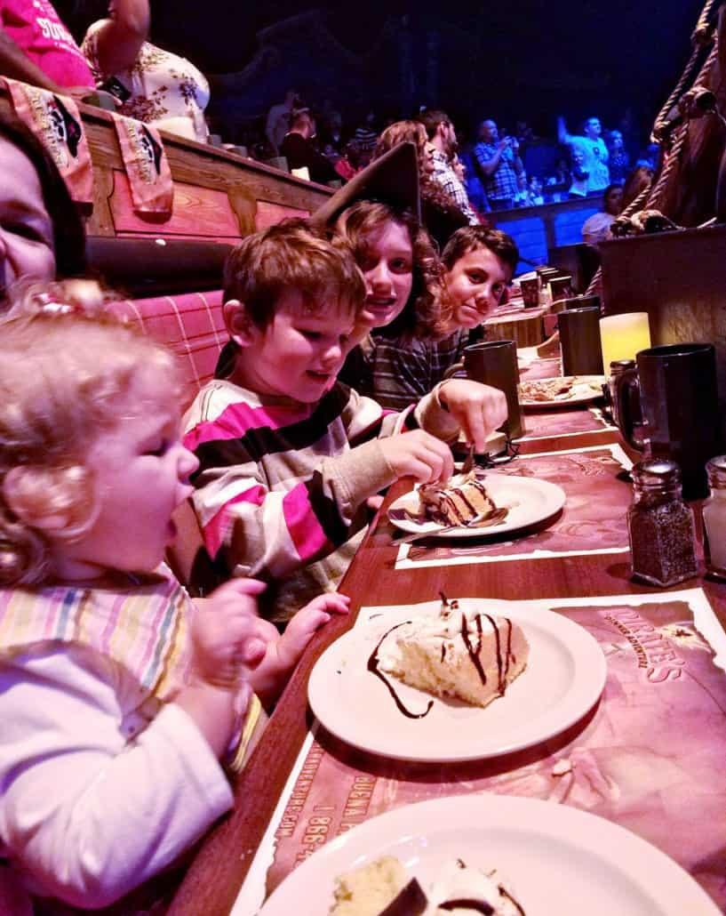 Pirate's Dinner Adventure in Buena Park tres leches cake dessert