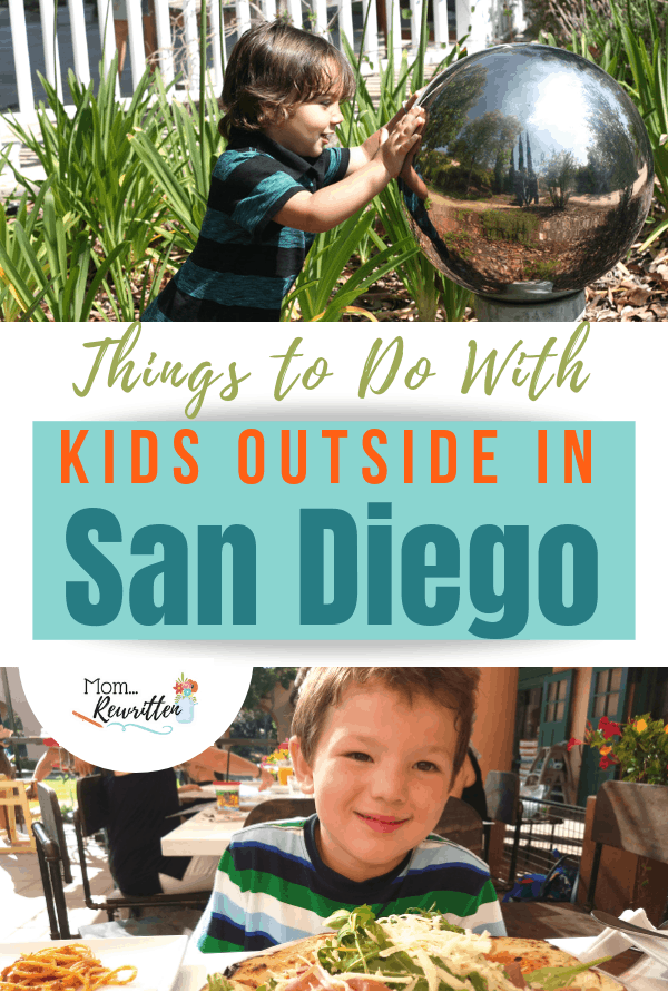 Dozens of ideas on outdoor activities to do with kids in San Diego California! From the beaches to the mountains (and everywhere in between!) Includes suggestions for FREE events, discount vacation travel tips and where to eat. Educational travel, theme parks and places to cool down in the summer, these are the places to explore outside in San Diego with kids! #SanDiego #California #MomRewritten | Travel with Kids | Family Travel | SoCal Vacation