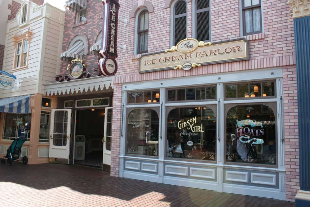 Gibson Girl ice cream parlor on Main Street USA at Disneyland