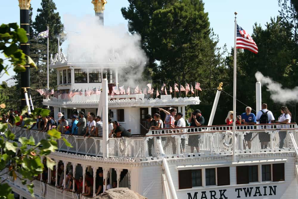 Mark Twain Riverboat on the Rivers of America in Disneyland