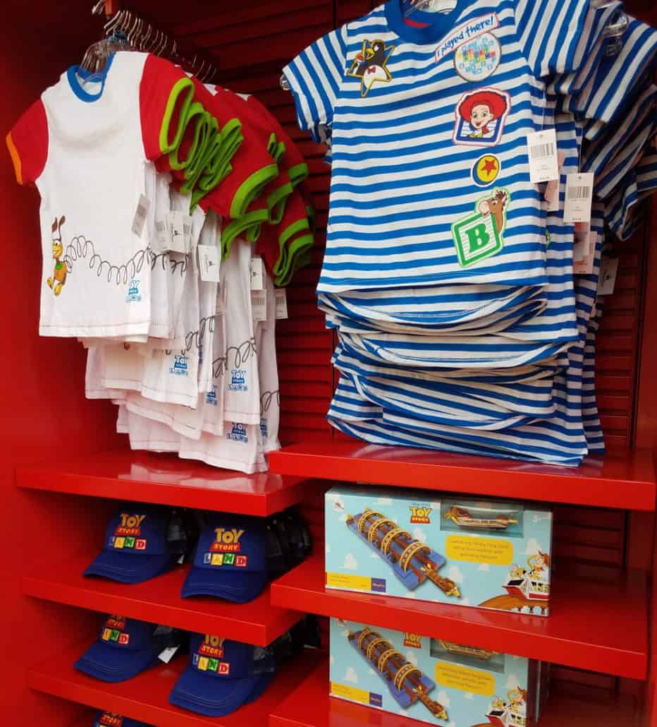 Souvenir kiosk inside Toy Story Land.