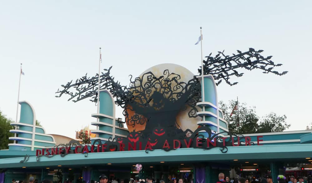 Oogie Boogie Bash California Adventure Halloween entrance