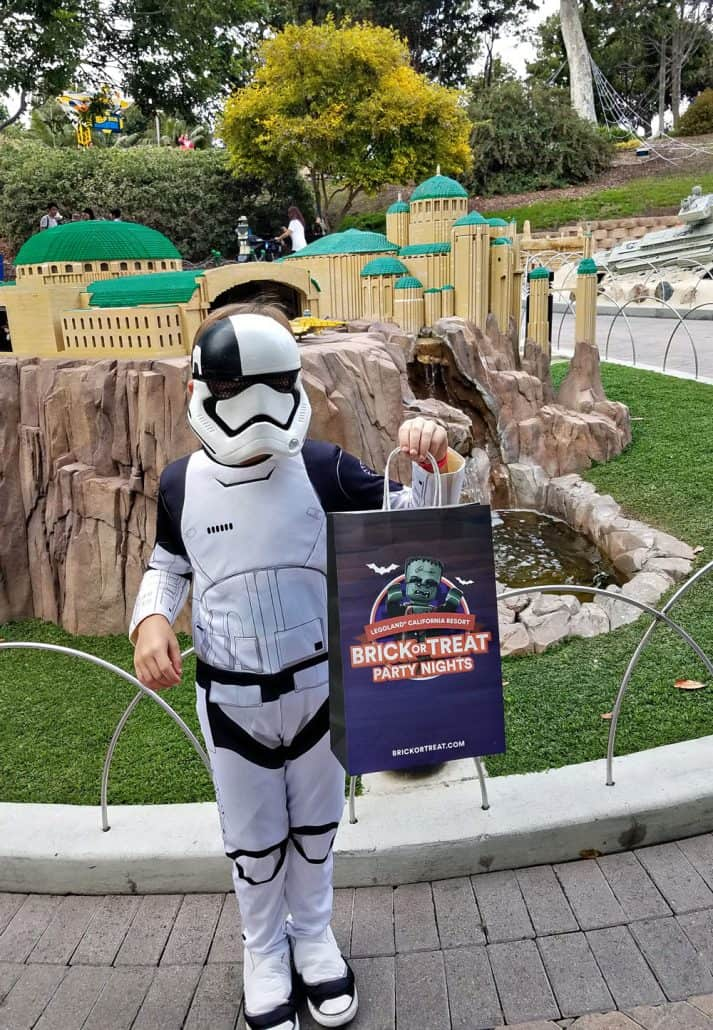 Stormtrooper with LEGOLAND Brick or Treat bag