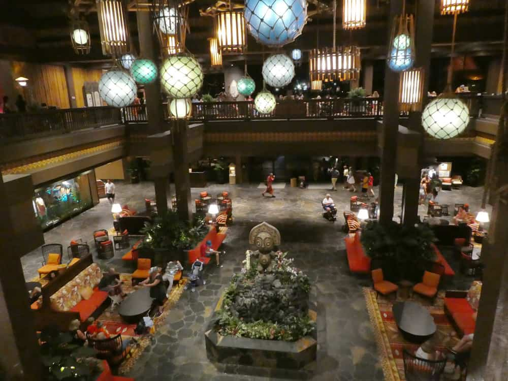 Entry lobby of Disney's Polynesian Resort at Disney World