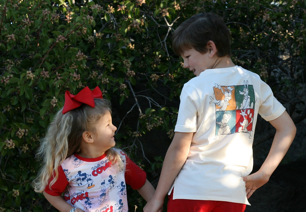 Kids wearing RAGS Disney collection t-shirts