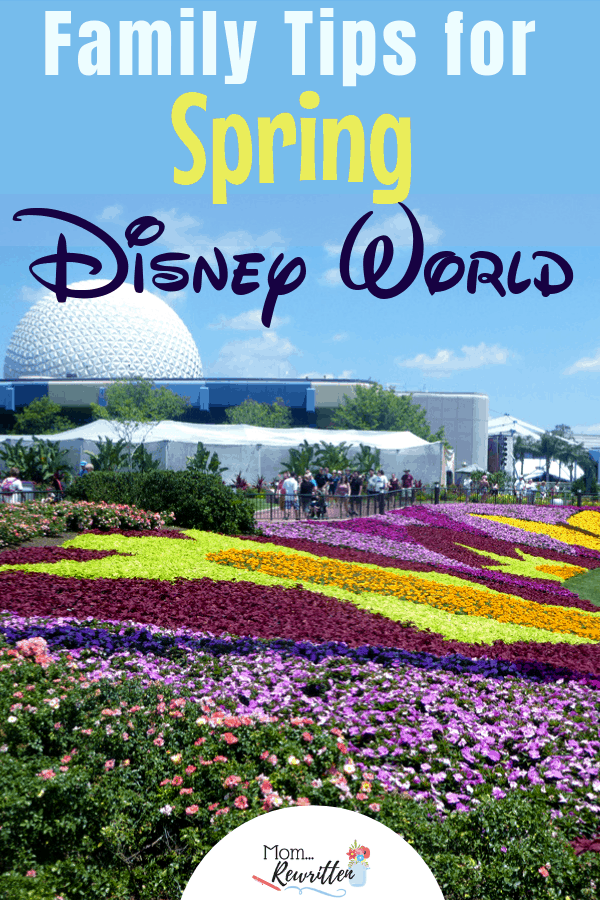 Planning to visit Walt Disney World in the spring? These are the top family travel tips about dealing with heavy Disney spring break crowds, what to pack, Epcot Flower & Garden Festival tips and special Easter holiday magic. #Disney #DisneyWorld #WDW | Family Travel | Orlando | Travel with Kids | Springtime at Disney | Disney Tips