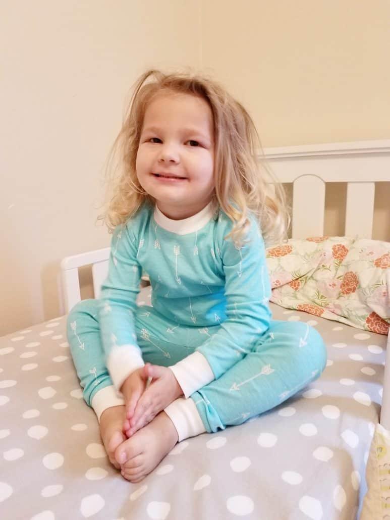 Peejamas turquoise arrow print potty training pajamas