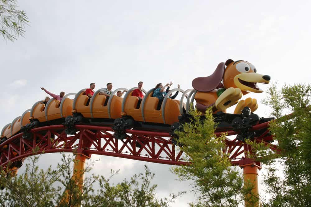 Slinky Dog Dash roller coaster in Toy Story Land at Walt Disney World Disney's Hollywood Studio