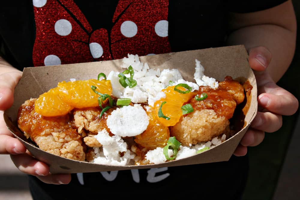 Disneyland California Food and Wine Festival Orange Chicken