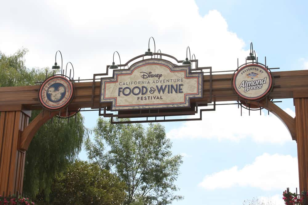 Disneyland California Food and Wine Festival entrance