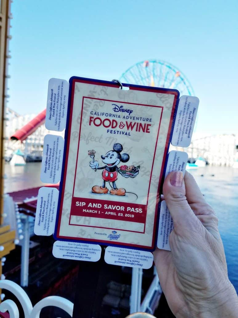 Disneyland California Food and Wine Festival Sip and Savor Pass