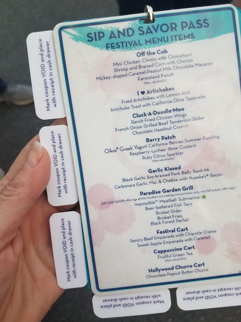 Disneyland food and wine sip and savor guide