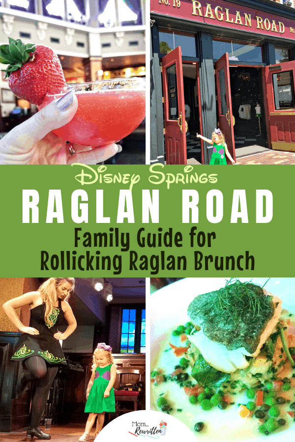 Families going to Disney World should consider brunch at Disney Springs Raglan Road! It's a great blend of live entertainment, unique food and Irish dancing. Get the scoop on the weekend Rollicking Raglan Brunch including what to eat & drink on the brunch menu, how kids can get on stage for an Irish dance lesson, what to expect and even what NOT to order! #RaglanRoad #IrishPub #DisneySprings #DisneyTips | Travel with Kids | Family Travel | Restaurant Dining | Orlando | Florida | Eating Out