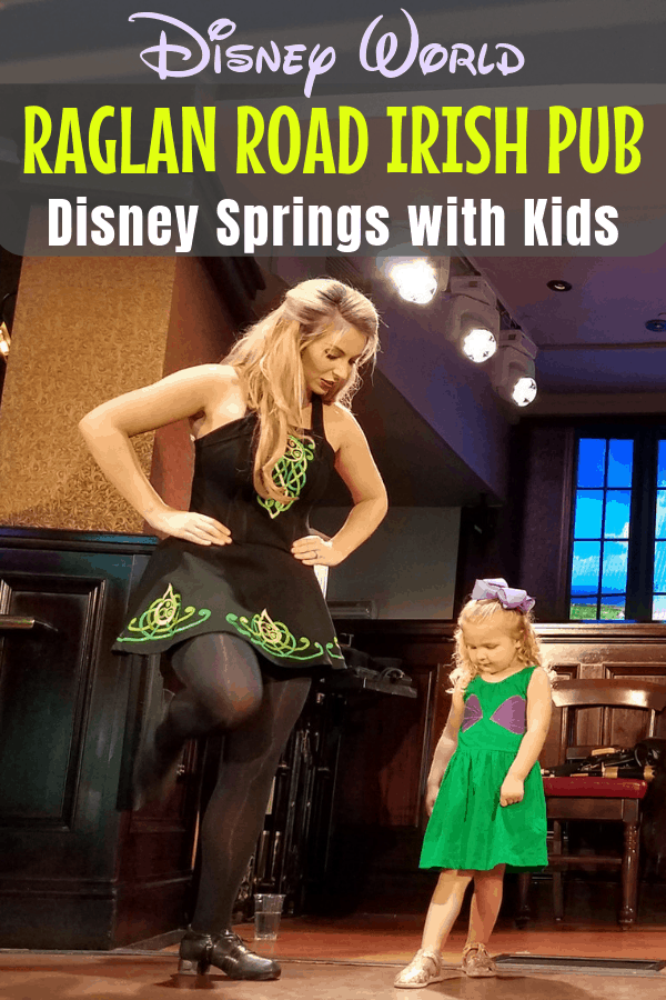 Is an Irish pub a good place for kids? If it's the Raglan Road Rollicking Raglan Brunch at Walt Disney World Disney Springs, then YES, it's perfect! Find out what there is to eat & drink at brunch, how kids can get on stage for an Irish dance lesson, what to expect and even what NOT to order off the menu! #RaglanRoad #IrishPub #DisneySprings #DisneyTips | Travel with Kids | Family Travel | Restaurant Dining | Orlando | Florida | Eating Out