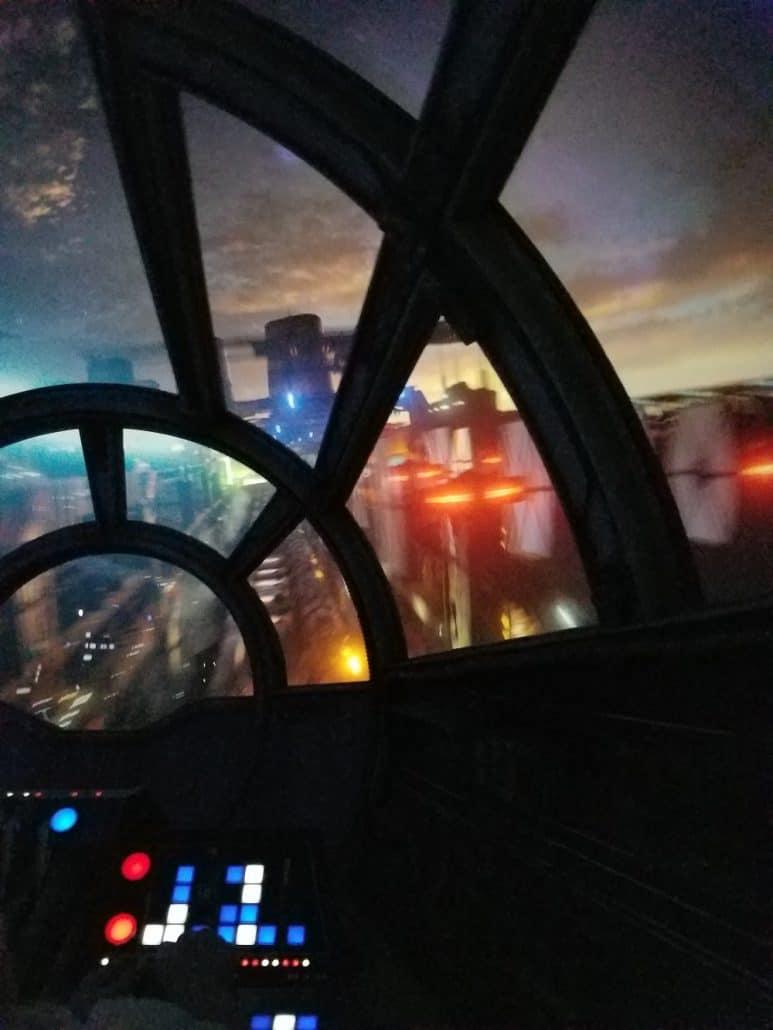 Action shot inside Millennium Falcon: Smugglers Run