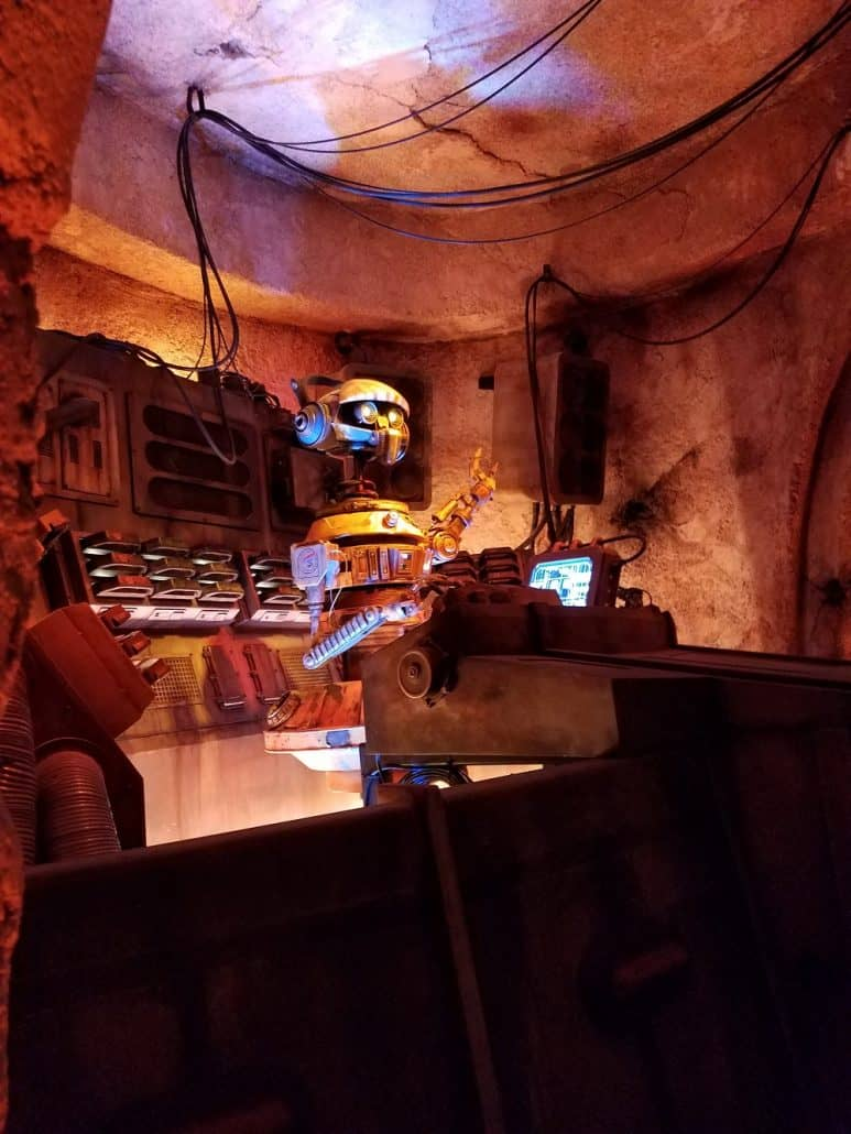 DJ REX inside Star Wars: Galaxy's Edge Oga's Cantina