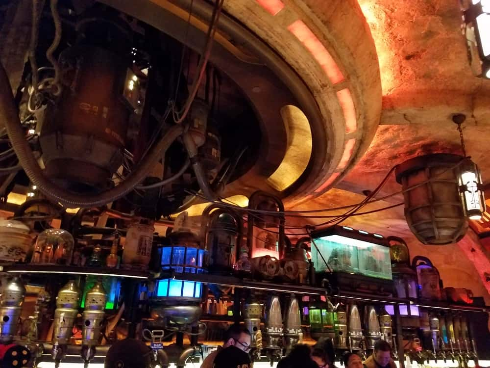 Inside Oga's Cantina in Star Wars Land
