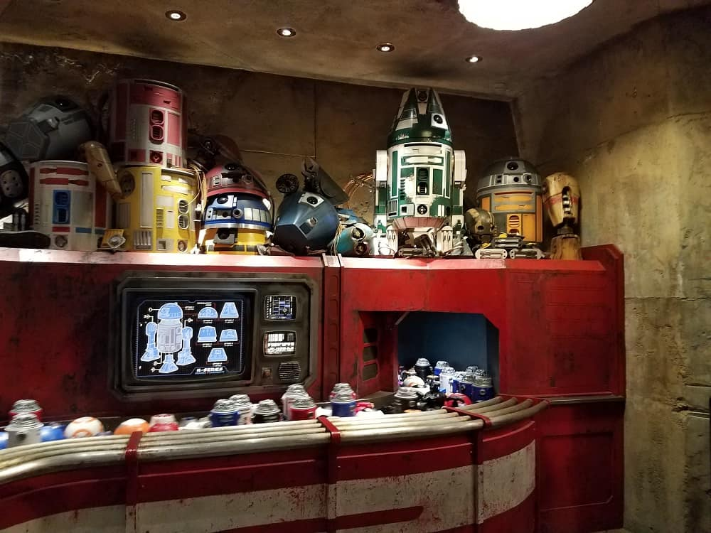 Droid Dept at Star Wars: Galaxy's Edge in Disneyland