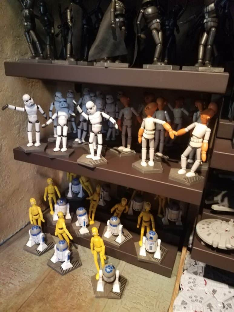 Toydarian Toymaker handcrafted wooden figures at Star Wars: Galaxy's Edge